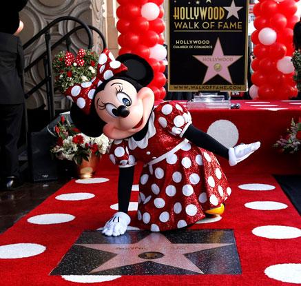 '시대의 캐릭터' 미니 마우스, 할리우드 명예의 전당 입성