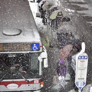 도쿄 도심에 4년 만에 20㎝ 적설…교통 불편 이어져