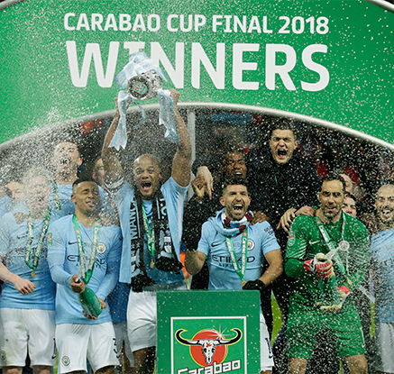 맨시티, EFL컵 우승…아스널 3-0 완파