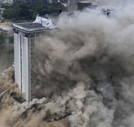 """한국인 투숙 필리핀 마닐라 호텔서 불…""""최소 3명 사망"""""""