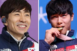 이승훈·윤성빈, 코카콜라 체육대상 공동 최우수선수상 수상