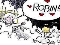 부시여사, 하늘나라서 딸과 재회…네티즌 울린 한 장의 만화