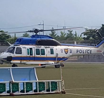 강진 실종 여고생 수색에 투입된 헬기