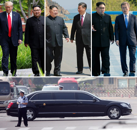 김정은의 광폭외교…석달새 南2·美1·中3 연쇄 정상회담