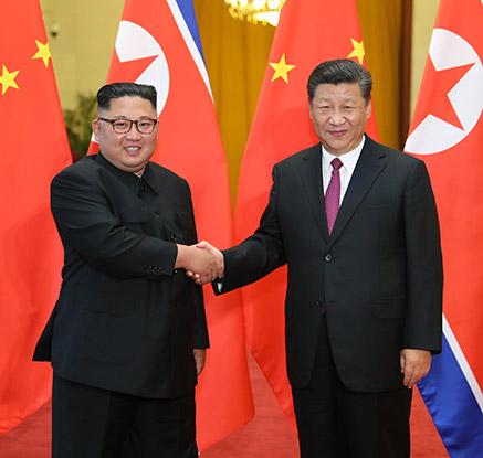김정은·시진핑 세번째 회동…석달새 南2·美1·中3 연쇄 정상회담
