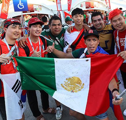 한국·멕시코팬, 오늘은 모두가 월드컵 팬