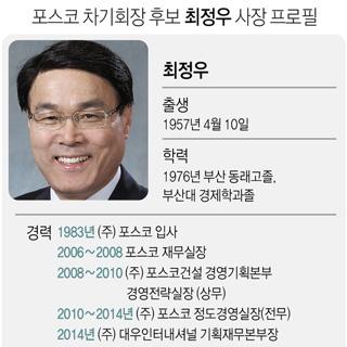포스코 회장후보에 최정우…최초 비엔지니어 출신