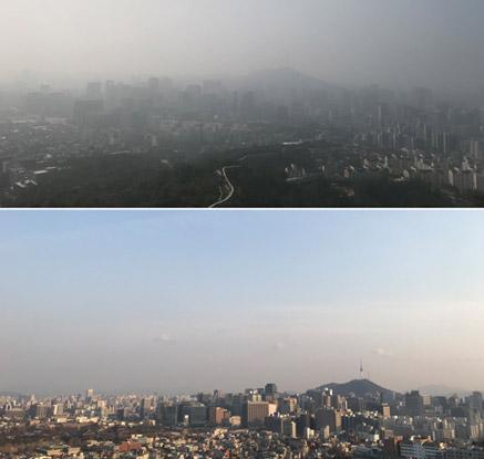 초미세먼지로 '어제와 다른 오늘'