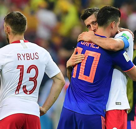 '톱시드 국가 첫 조기탈락' FIFA 랭킹 8위 폴란드, 콜롬비아에 3-0  참패