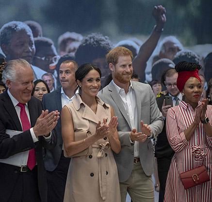 해리 왕자 부부, 만델라 탄생 100주년 기념 전시 참석