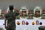 '잊지 않겠습니다' 해병대 헬기추락 순직장병 5명 영결식