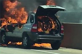 이번엔 스포티지…서해안고속도로 달리다 화재