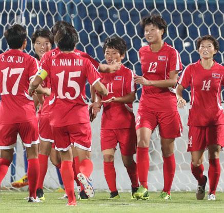 북한 여자축구, 타지키스탄에 16-0 대승