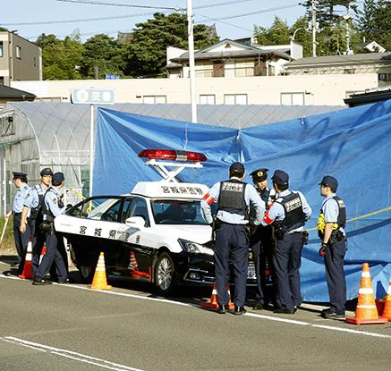 경찰관 피살 사건 발생한 일본 센다이 파출소
