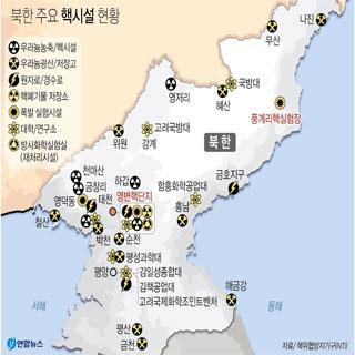 북한 주요 핵시설 현황