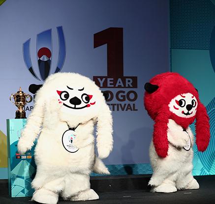 2019 일본 럭비 월드컵 개시 행사…마스코트-우승컵 공개