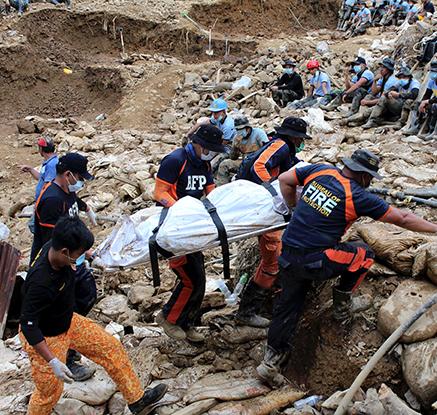 필리핀 산사태로 주택 26채 매몰…최소 6명 사망·64명 실종