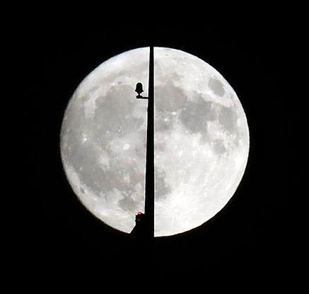 보름달을 반으로 가르면
