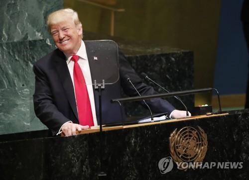 '세계화 배격' 외친 트럼프…자찬 늘어놓다 총회장 '웃음바다'
