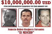 미국 정부, 멕시코 신흥 마약왕 현상금 110억원으로 인상