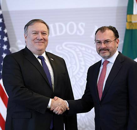 중미 이민행렬 북진…폼페이오, 멕시코 외교장관과 회담