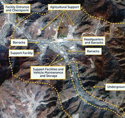 CSIS가 공개한 디지털 글로브의 '삭간몰 기지' 위성사진