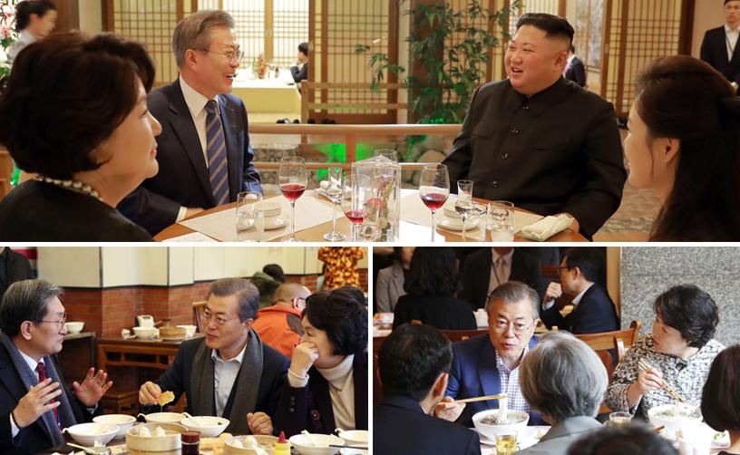 문 대통령, 北에서도 서민식당 찾아…계속되는 대중식당 외교