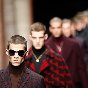 '밀라노 패션위크' 베르사체 남성복 컬렉션
