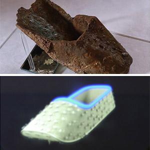 홀로그램으로 복원된 마한시대 금동신발