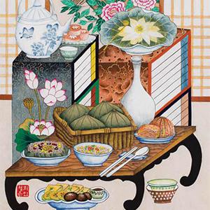 눈으로 즐기는 한식의 맛 '한식문화 미술 전시회'