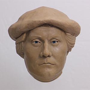 초상화 모델이 된 루터의 복원두상