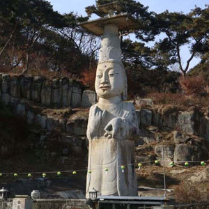 국보 제323호 논산 관촉사 석조미륵보살입상