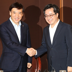 김동연·이주열 석 달 만에 회동