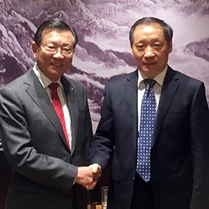 중국 문화여유부 방문한 박삼구 금호 회장