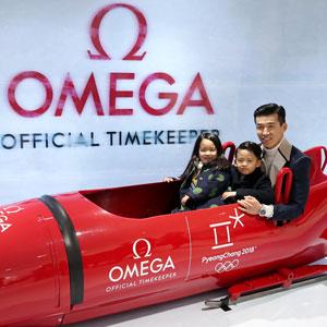 평창 올림픽 공식 타임키퍼 오메가 기념전시 찾은 션과 가족들