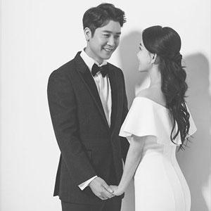 배우 조현재, 웨딩사진 공개