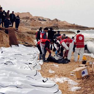 리비아 해안서 난민 시신 74구 발견돼