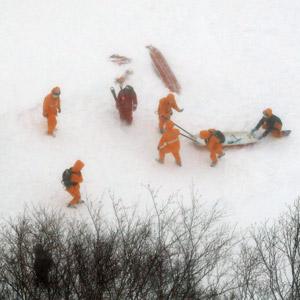 日 도치기현 스키장 눈사태…사망 8명·부상 40명
