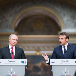 """마크롱·푸틴 """"北핵 공조""""…시리아문제 등 견해차 재확인"""