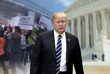 反이민 몰아붙이는 트럼프…이민범죄 피해가족 백악관 초청