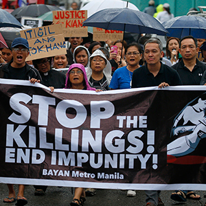 필리핀서 '마약과 유혈전쟁' 항의 시위