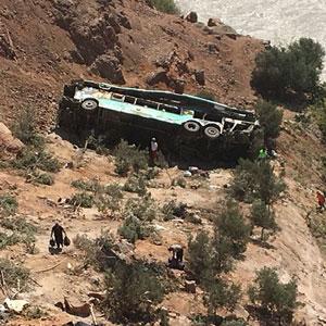 페루 남부서 계곡 추락한 버스