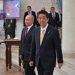 """푸틴-아베 모스크바 정상회담…""""북한 비핵화 위해 긴밀히 공조"""""""
