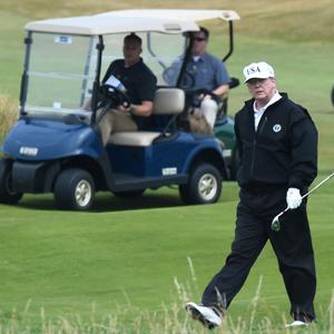 트럼프, 스코틀랜드 골프리조트서 푸틴과의 회담 준비