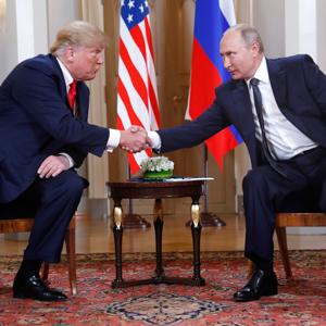 트럼프-푸틴, 헬싱키서 정상회담 시작