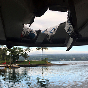 하와이 관광보트에 '용암폭탄'…23명 부상