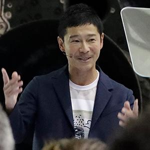 인류 최초 민간인 달 여행객 마에자와 씨
