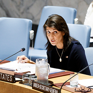 """美유엔대사 """"러의 지속적·광범위한 대북제재 위반 증거있다"""""""