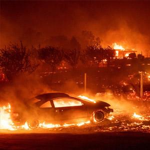 마을 통째로 삼킨 캘리포니아 산불