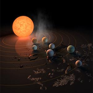 왜성 트라피스트-1 주위에서 지구 닮은 행성 발견